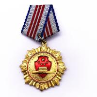 China Plating Gold Brass Custom Metal Medals , Custom Award Medals For Souvenir on sale