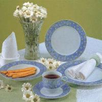 20-Piece Porcelain Dinner Set with Various Decals in Elegant Style Manufactures