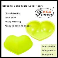 China Yellow Cake Pop Molds / Silicone Cake Mold Love Heart With Customize Color For Baking on sale