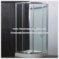 China 10mm Clear Toughened Tempered Frameless Glass Shower Enclosure on sale