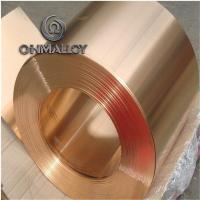 Quality Mechanical Resistance Pure Copper Foil C11000 C1221 0.1mm - 1.2mm Thickness For Electric Springs for sale