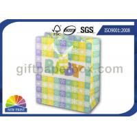 High Grade Paper Gift Wrapping Bags for Baby Showers Packaging with Ribbon Handle Manufactures