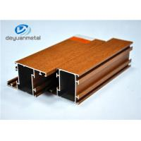 Nature Color Wood Grain Aluminium Extrusions / Aluminum Framing System SGS Manufactures