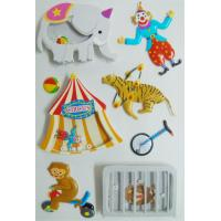 Circus Printed Custom 3d Stickers , Fashion Kids Car Stickers 80 X 120 Mm Manufactures