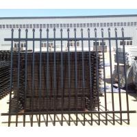 China 2 Rails Top And Bottom Flush Upright Rails Powder Coated galvanised steel palisade fencing on sale