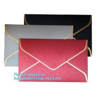 Custom logo private label brown kraft paper envelope,Custom made own logo design red kraft paper letter envelope bagease Manufactures