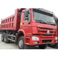 40t SINOTRUK HOWO Red heavy dump truck with 336hp euro ii emission standard Manufactures