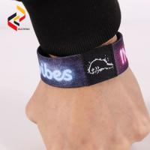Custom RFID programmed elastic fabric woven bracelet smart for event Manufactures