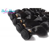 100% Virgin Natural Black Loose Wave Hair Weave With Full Cuticles Intact Manufactures