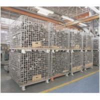 "Heavy Weight Foldable Collapsible Wire Containers W47"" X D39"" X H35"" In Zinc plate Finishes Manufactures"
