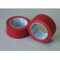 Red Adhesive Floor Marking Tape PVC Film Thickness 0.5MM For Pipe Wrapping Manufactures