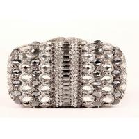 Multi Glitter Stylish Evening Stone Clutch Bag Detachable Chain For Party Manufactures