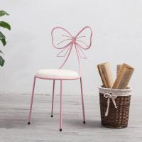 China Butterfly Back Modern Velvet Dining Chairs For Makeup High Temperature Painting on sale