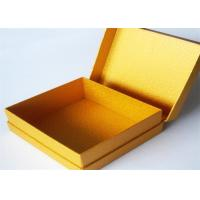 Yellow Antique Lamination Printed Gift Boxes With lids For Clothes Manufactures