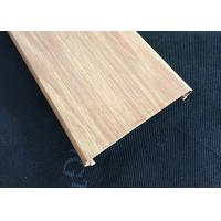 C- Shaped Width 100mm Commercial Aluminum Wood Ceiling Panels For Shopping Hall Manufactures