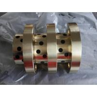 CuZn25Al5 Bronze bushing with graphite MOS2 bearings with solid lubricant embedded Manufactures