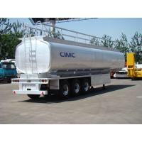 China CIMC tri-axles 42000L fuel tanker Stainless Steel oil tanker trailers for sale on sale