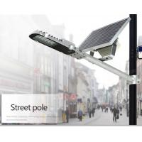 Energy Saving 3300lm Solar Based Led Street Lights 20W Toughened Glass Material Manufactures