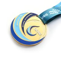 Zinc Alloy Gold Finishing Metal Award Medals For Football / Soccer Games Manufactures