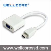 China HDMI to VGA Laptop Adapter Converter PC DVD XBOX HDTV Audio Support Male-Female on sale