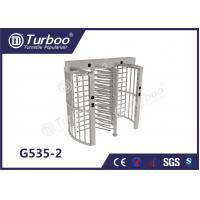China Pedestrian Full Height Turnstile High Revolving Door Running Stably Without Noise on sale