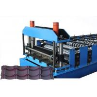 CE Glazed Tile Sheet Metal Roll Forming Machines , Roofing Sheet Making Machine Manufactures