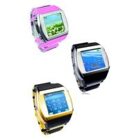 HOT ! Watch phone quadband FM with camera bluetooth touch screen Manufactures