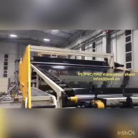 8m Geomembrane Plastic Sheet Extrusion Line , Plastic Extrusion Equipment Jwell Manufactures