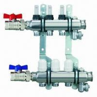China Brass Manifold for Water Separators and Underfloor Heating, Nickel-plated on sale