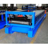Corrugated Steel Panel Roll Forming Machine , Steel Frame Roll Former 12-18m/Min Manufactures
