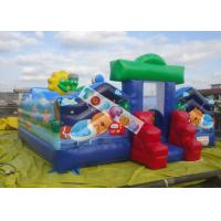Commercial Inflatable Amusement Park / Zoo Jumping Castle 7x7m 0.55mm PVC Tarpaulin Manufactures