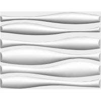 Easy Install White Wave Wall Panels , TV Background PVC 3D Wall Sheets For Living Room Manufactures