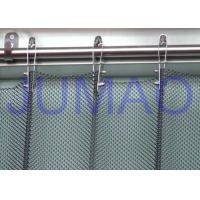 Fireproof Silver Metal Mesh Curtains Metal Coil Drapery For Exhibition Blinds Manufactures
