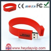 China USB factory outlets Cheap 64MB - 64GB Silicone Bracelet Usb 2.0 usb wristband flash drive on sale