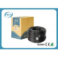 China UTP Outdoor Ethernet Cable Cat6 1000FT New Full Copper Black PE UV Resistant Waterproof on sale