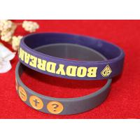 Soft Custom Silicone Rubber Wristbands Delicate Debossed Color Filled Logo Manufactures