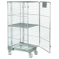 Security 3 Sides Roll Cage Trolley for Store Electric Spareparts