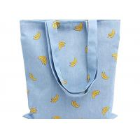 Banana Printed 12 Oz Natural Custom Canvas Bags Reusable Ideal for Groceries , Shopping