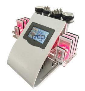 China 6 In 1 Lipo Laser + Cavitation + RF + Vacuum / RF Cavitation Vacuum Lipolaser Slimming Machine on sale