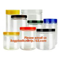 China gift packaging clear plastic large round storage box, Food grade clear plastic round PVC tube metal lid box on sale