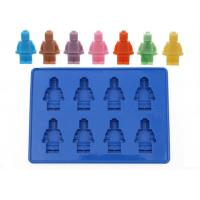 Large 8 Robot Shape Silicone Ice Cube Tray / Baby Food Ice Trays Manufactures