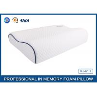 Customized Embroidery Logo Tencel Fabric Contour Memory Foam Pillow With Piping