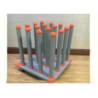 Media Roll Storage Rack 4 X 4 Printing Media Rolls Powder Coated Silver Vein Manufactures