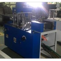 5.5KW Tissue Paper Production Line , 1-2 Colors Printing Steel To Paper Embossing Cocktail Napkin Folding Machine Manufactures