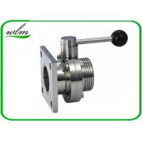 China Manual Sanitary Butterfly Valves Square Or Round Flange For Wine Tanks on sale
