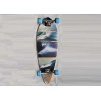 Double Kick Longboard Canadian Maple Skateboards Deck With Heat Transfer Design Manufactures