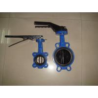 Handle / gear operated stainless steel Europe type Butterfly valve comply with EN593 Manufactures