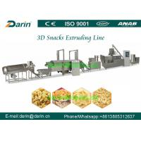 Stainless Steel 3d 2d snack pellet twin screw extruder processing line Manufactures