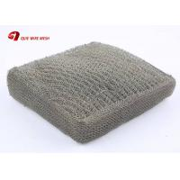 China Compressed Knitted Stainless Steel Woven Metal Wire Mesh For Filtration And Cleaning on sale