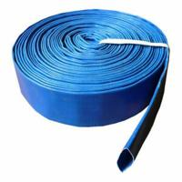 China Cheaper blue pvc layflat hose pvc discharge hose water discharge hose on sale